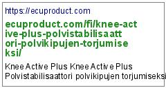 https://ecuproduct.com/fi/knee-active-plus-polvistabilisaattori-polvikipujen-torjumiseksi/